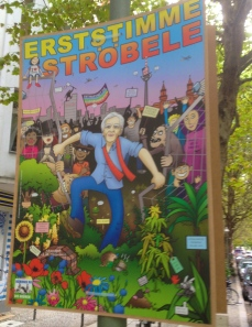 Greens: First vote for Ströbele