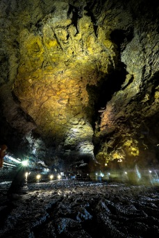 inside a 10km lava tube tunnel